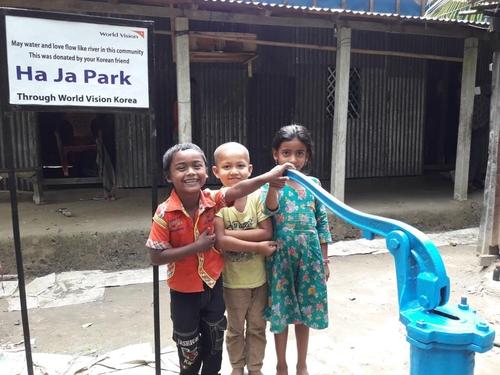 박하자씨의 후원을 받은 방글라데시의 아이들