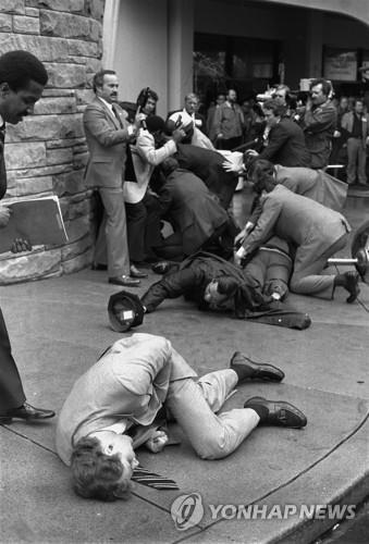1981년 암살 기도 당시 모습