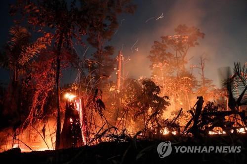 아마존 열대우림 대형 산불
