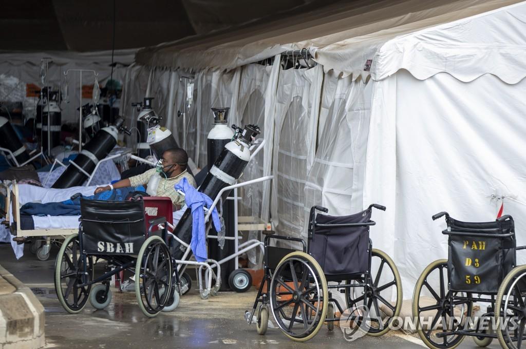 지난 1월 11일(현지시간) 남아프리카공화국 프리토리아 한 병원 응급실 모습. [AP=연합뉴스 자료사진]