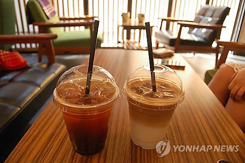 아이스 커피 음료
