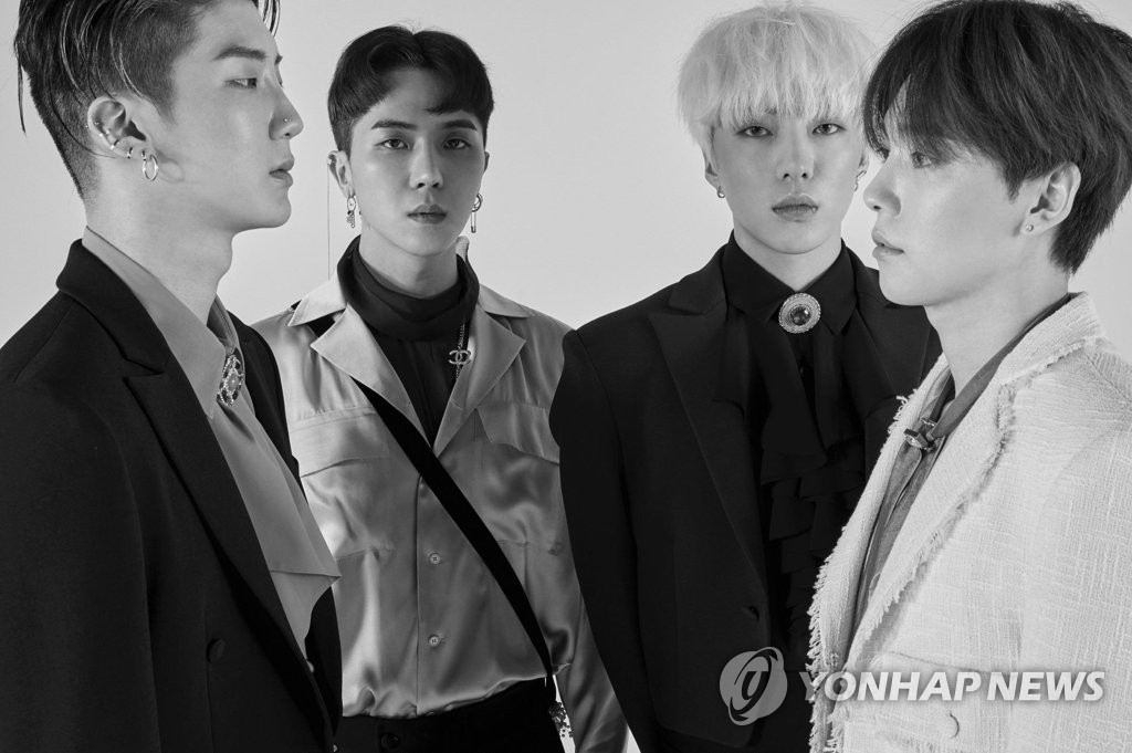 "The photo provided by YG Entertainment shows K-pop boy band WINNER. Its new single ""Millions"" is set to be unveiled at 6:00 p.m. on Dec. 19, 2018. (Yonhap)"