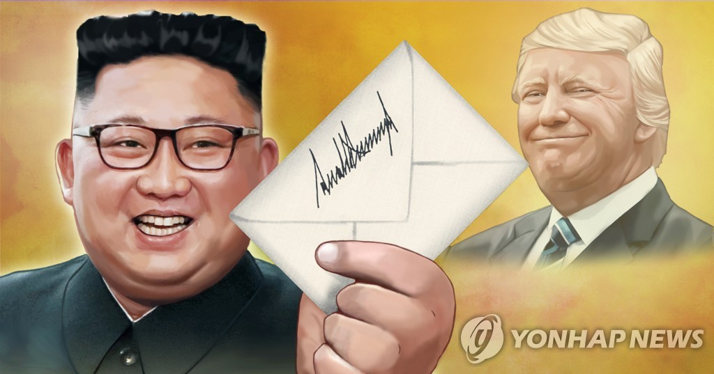 (2nd LD) Trump says he exchanged 'very friendly' letters with Kim - 1