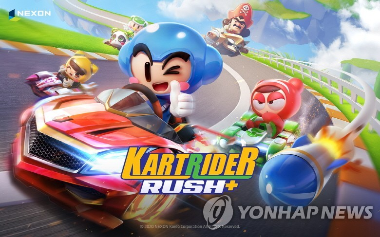 This undated file image, provided by Nexon Co., shows its racing game KartRider Rush+. (PHOTO NOT FOR SALE) (Yonhap)