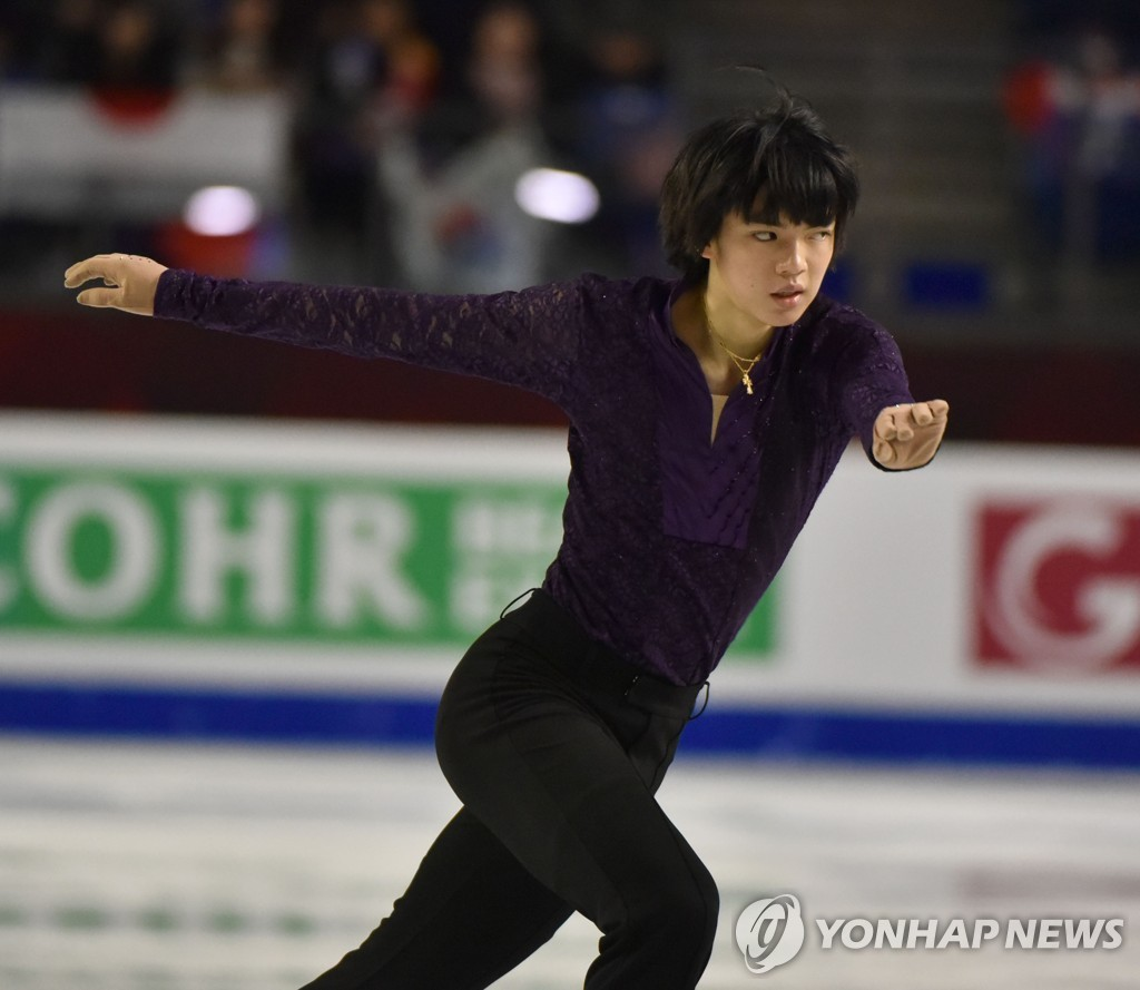 In this AFP photo, Cha Jun-hwan of South Korea performs his free skate at the International Skating Union Grand Prix of Figure Skating Final at Doug Mitchell Thunderbird Sports Centre in Vancouver on Dec. 7, 2018. (Yonhap)