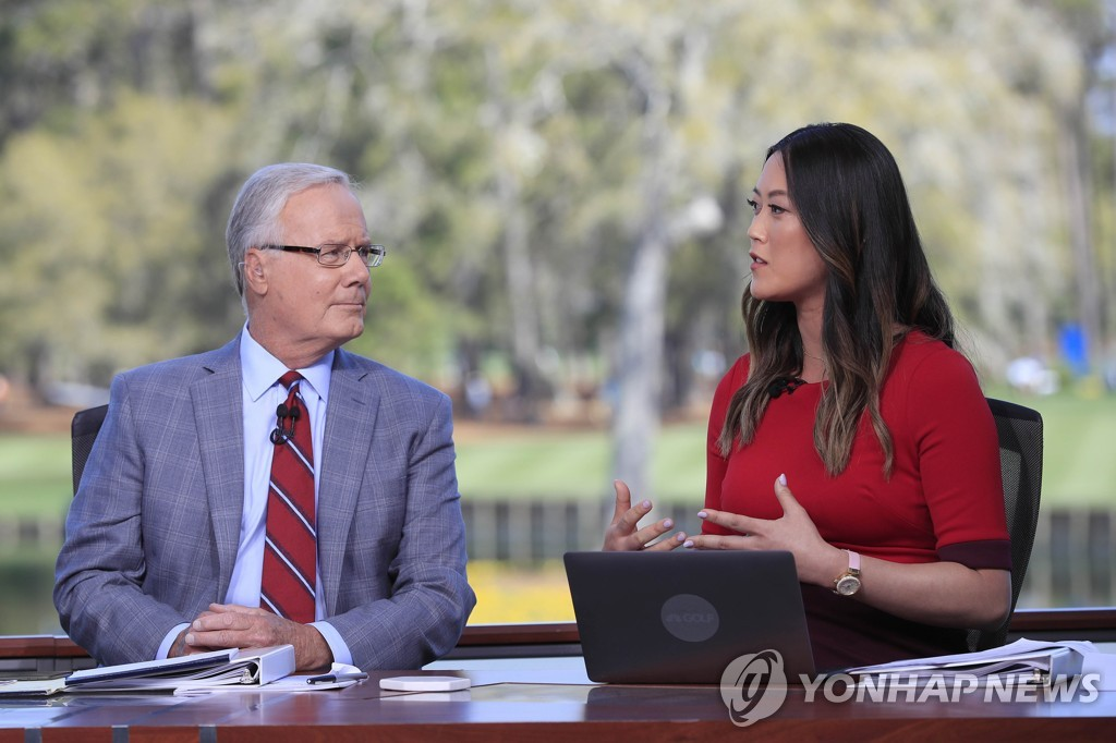 2020년 3월 플레이어스 챔피언십 TV 중계 해설자로 나선 위 웨스트(오른쪽).