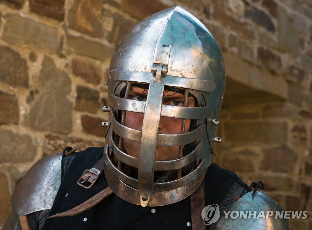 2019 Genoese Helmet international knight festival in Crimea, Russia