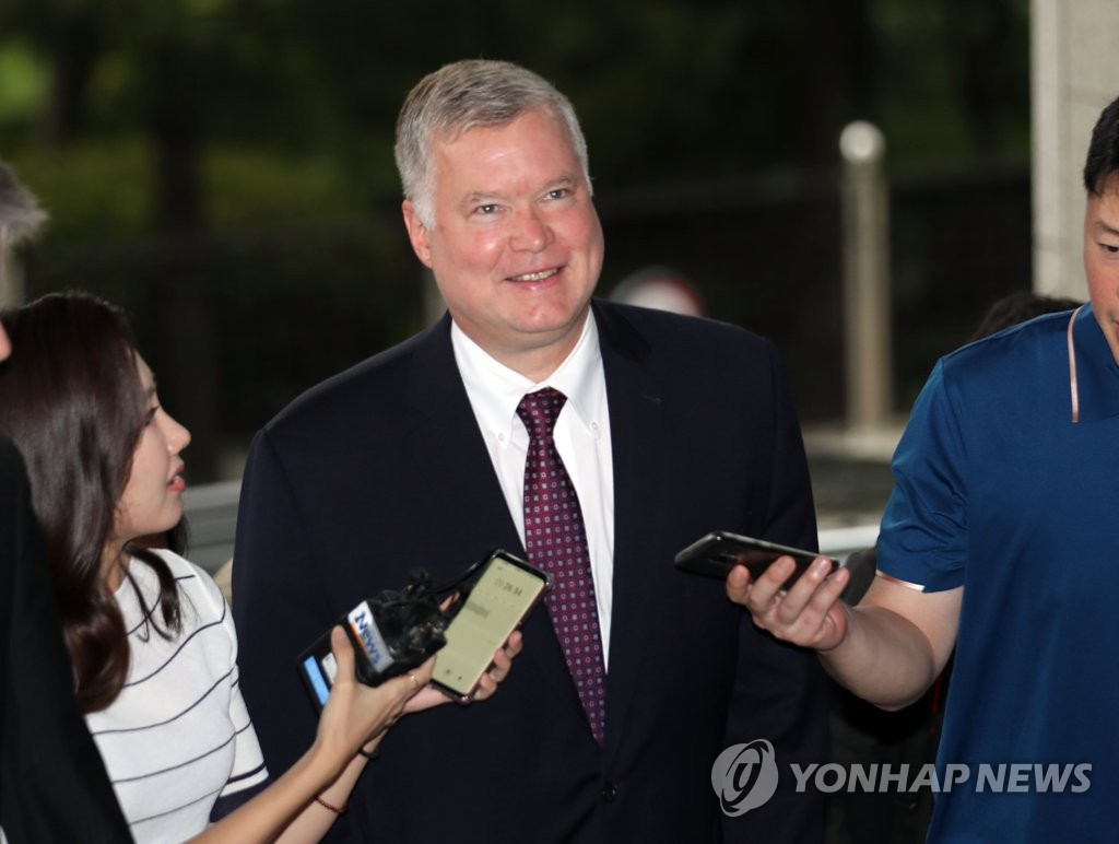 This photo shows U.S. Special Representative for North Korea Stephen Biegun in Seoul on Sept. 15, 2018. (Yonhap)