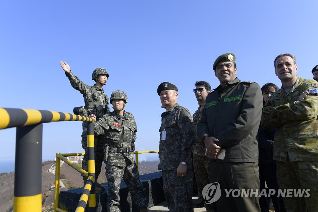 Foreign defense attaches visit border island