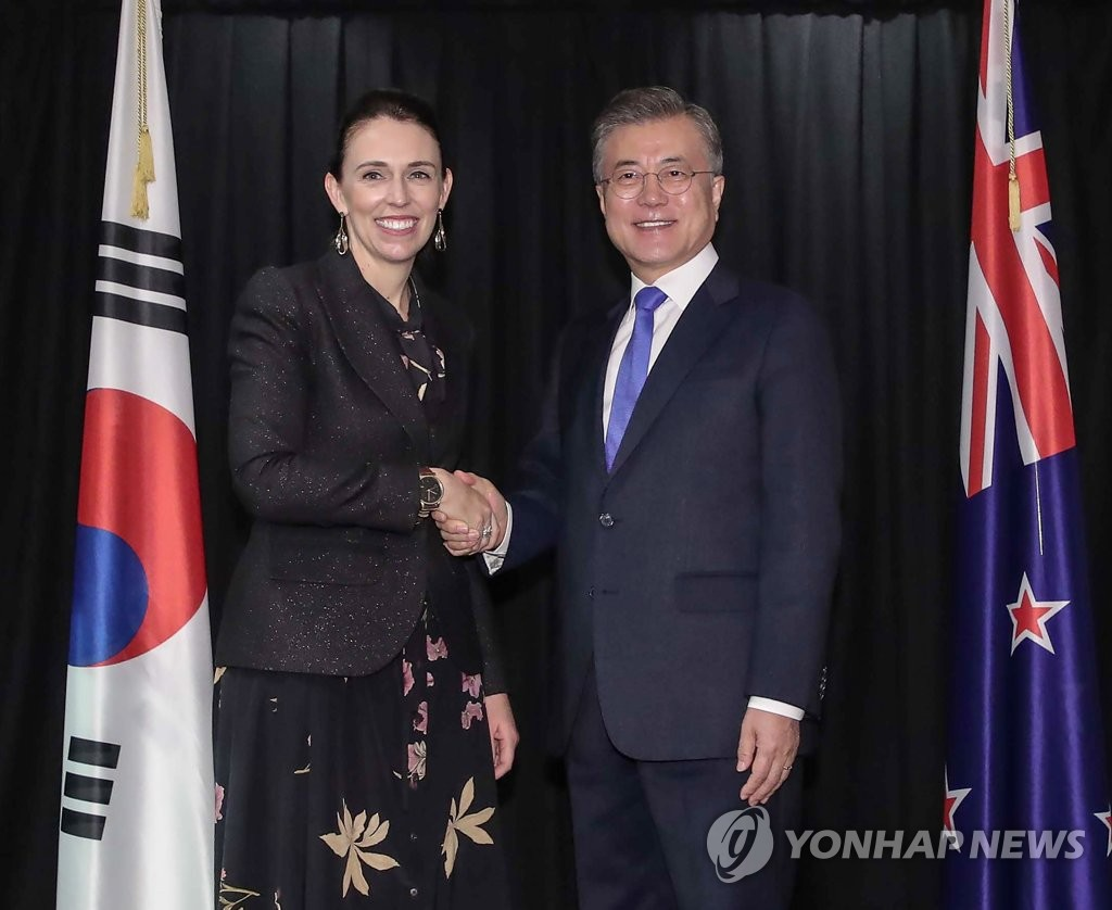 Leaders of S. Korea, New Zealand agree to boost cooperation, economic ties
