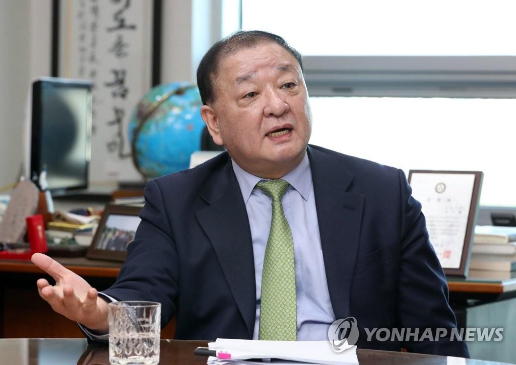 韓日議員連盟会長を務める共に民主党の姜昌一議員(資料写真)=(聯合ニュース)