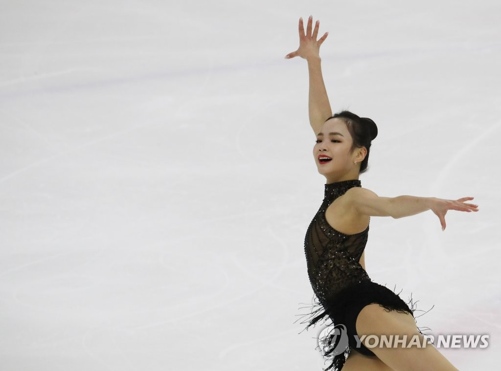 In this file photo from Dec. 23, 2018, Lim Eun-soo performs her free skate program at the 2018 Korea Skating Union President's Cup at Mokdong Ice Rink in Seoul. (Yonhap)