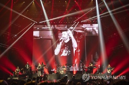 Maroon 5 concert in Seoul