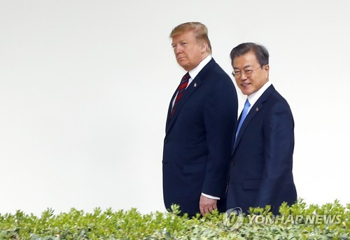 (News Focus) Trump asks Moon to broker N. Korean nuclear deal, but with little to offer