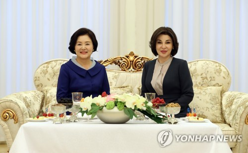S. Korean, Uzbek first ladies
