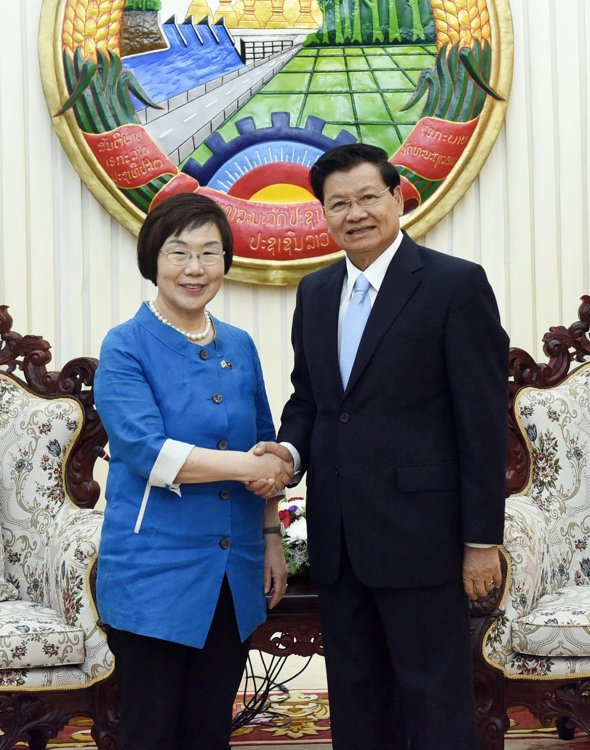 KOICA chief meets Laos leader