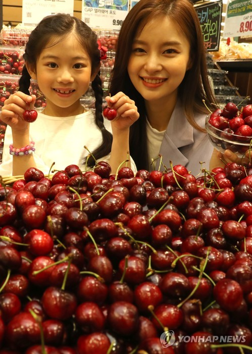 American-grown cherries at discount store