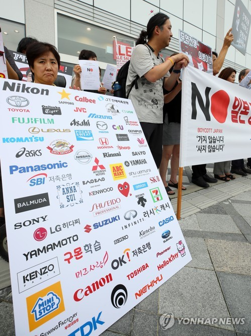 Boycott of Japanese brands