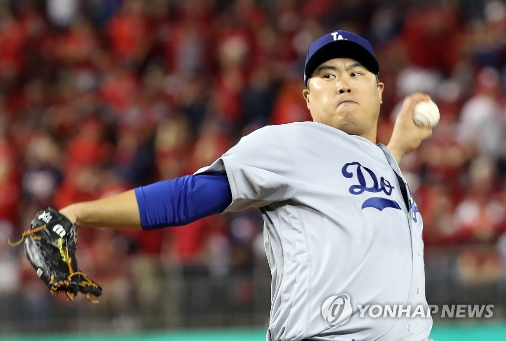 (LEAD) S. Korean Ryu Hyun-jin finishes 2nd in NL Cy Young voting