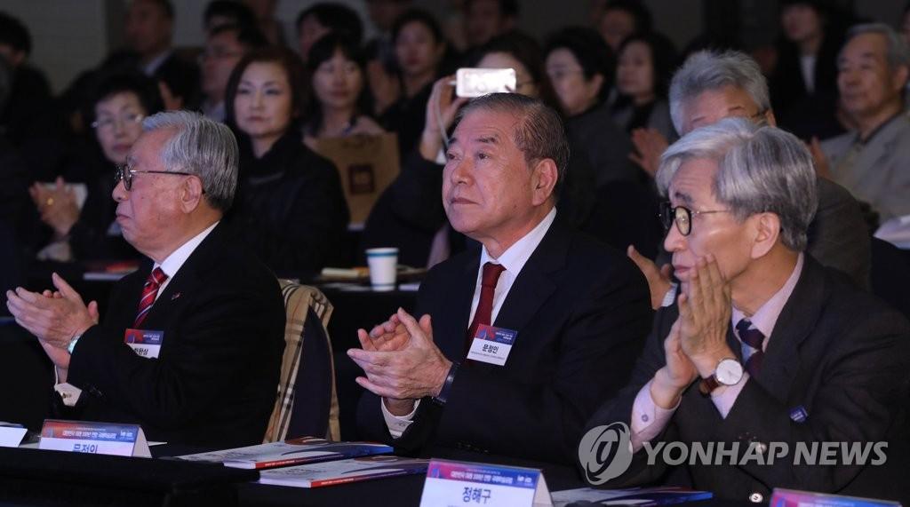 대한민국 미래 100년 포럼 참석한 문정인 특보