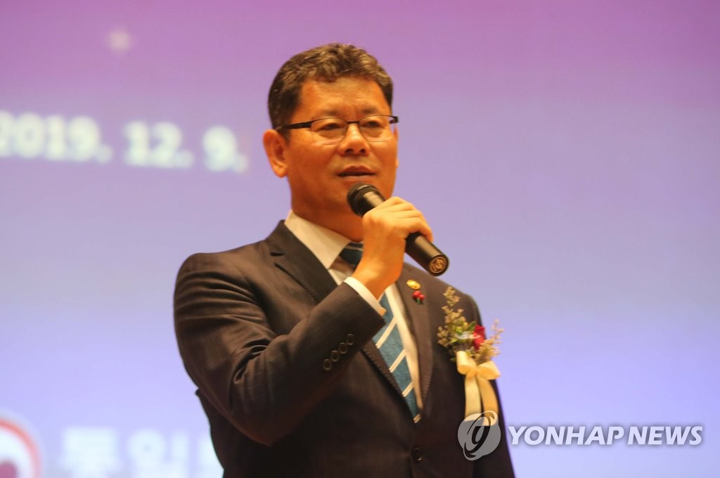Unification Minister Kim Yeon-chul speaks during a lecture in Gongju, 160 kilometers south of Seoul, on Dec. 9, 2019. (Yonhap)