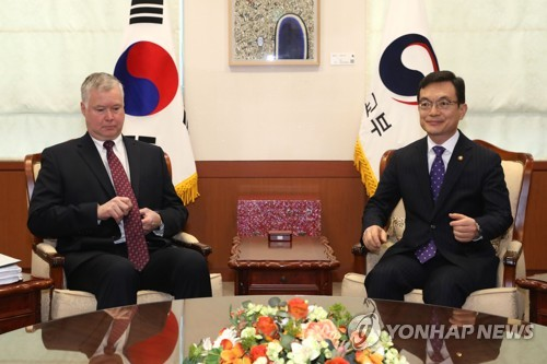 Senior diplomats of S. Korea, U.S. hold phone talks over fight against new coronavirus