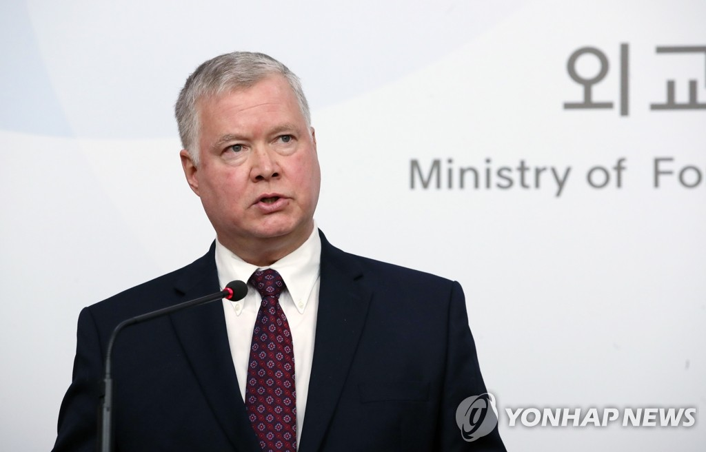 U.S. Special Representative for North Korea Stephen Biegun speaks during a press meeting at the foreign ministry in Seoul on Dec. 16, 2019. (Yonhap)