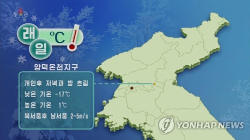 N.K. begins weather forecast for spa resort