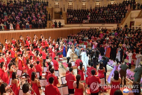 Kim Jong-un acknowledges N. Korean orchestra