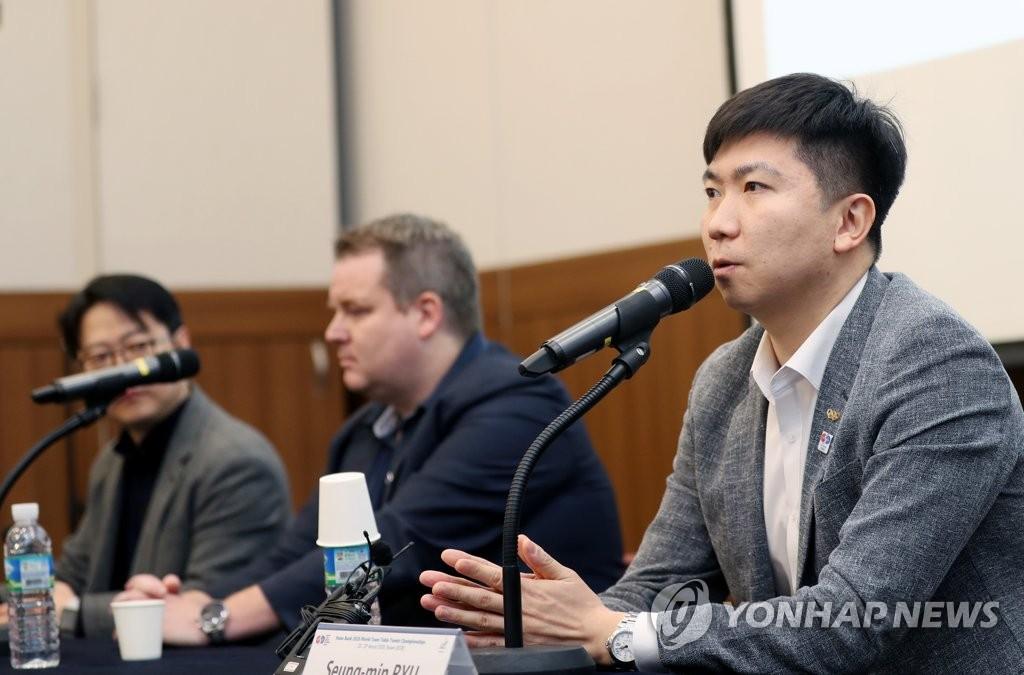 탁구협회장 연임 도전하는 유승민 IOC 선수위원
