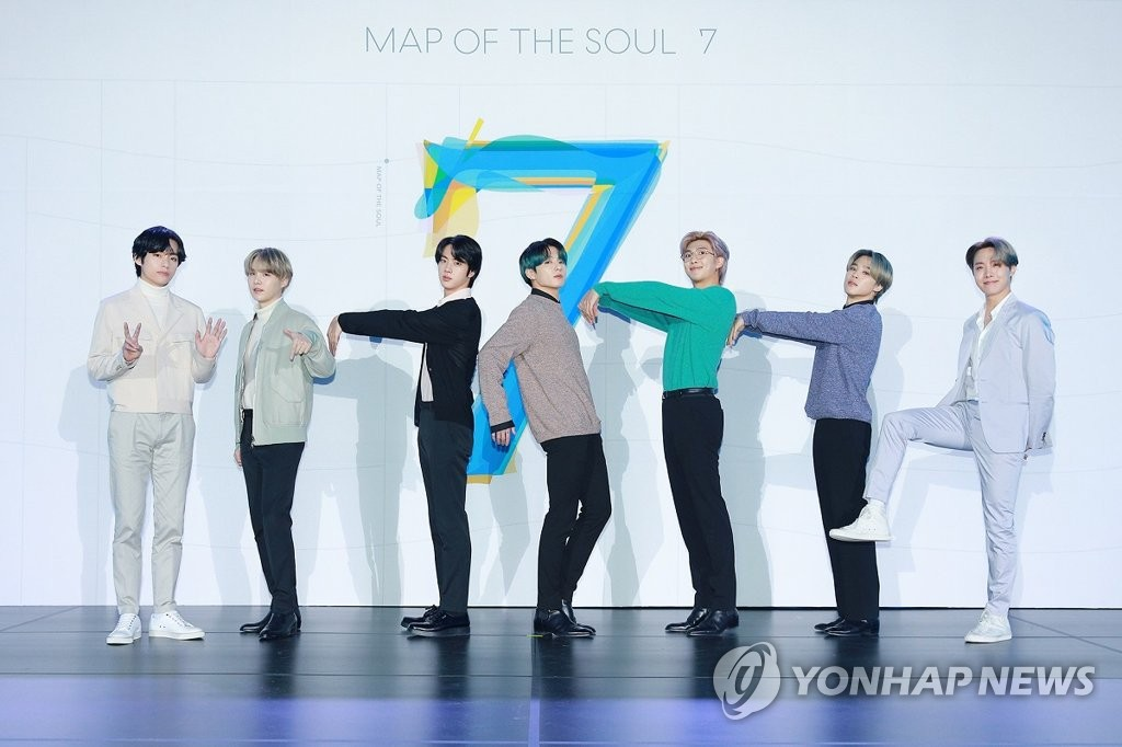 'Map of the Soul: 7' de BTS cae al 11º puesto en Billboard 200