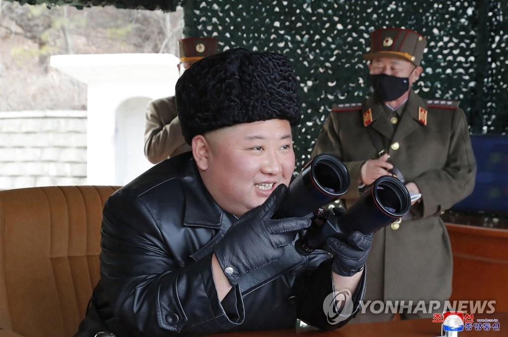 (3rd LD) N. Korea says leader Kim inspected long-range artillery strike drill