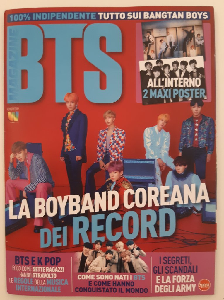 This image shows the June launch issue of BTS, a bimonthly Italian magazine on all things related to K-pop band BTS, from Italian publishing house Sprea S.p.A. (Yonhap)