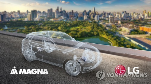 (LEAD) LG Electronics to set up EV parts JV with Canada's Magna