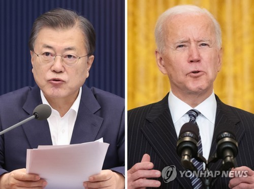 Moon to hold summit talks with Biden in D.C. next month: Cheong Wa Dae