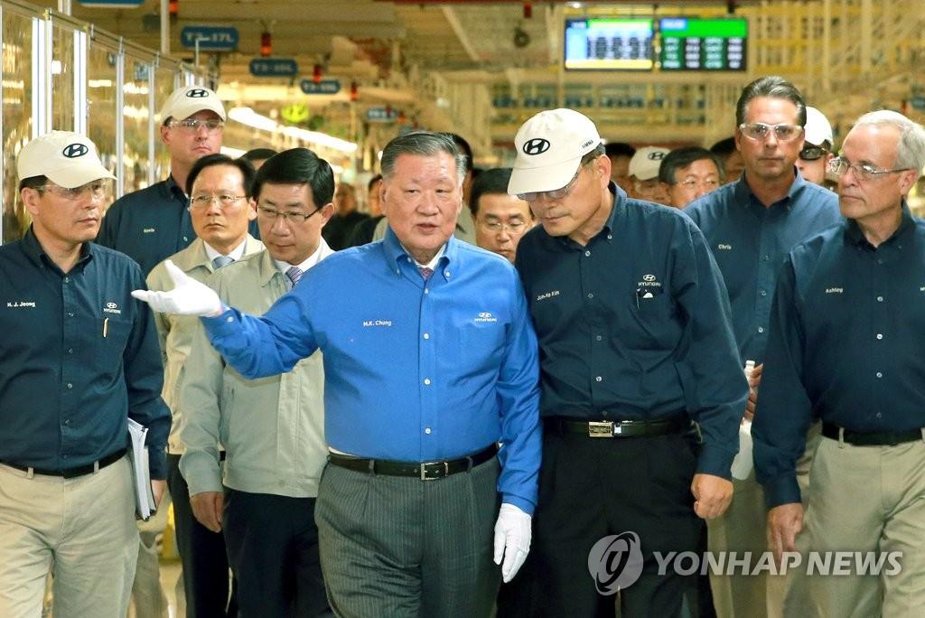 정몽구 명예회장, '자동차 명예의 전당' 한국인 최초 헌액