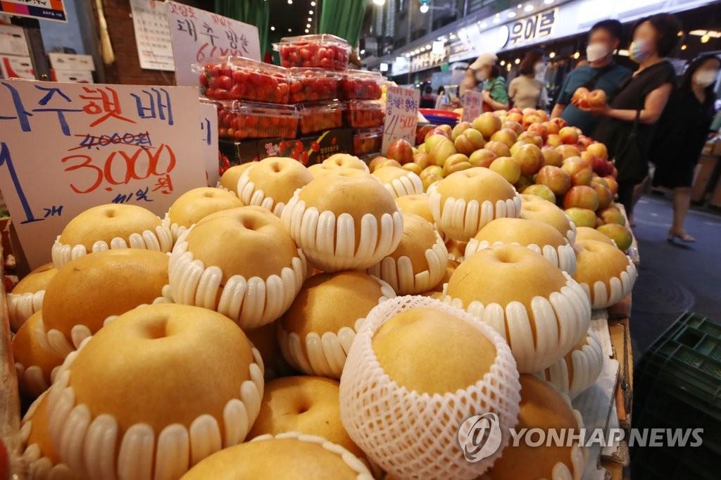 추석 농식품 구매 예상비용 34만3천200원
